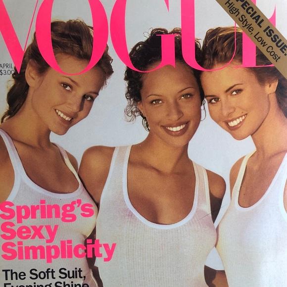 Vogue APRIL 1994 Brandi Q/Briget Hall/Niki Taylor